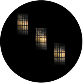Rosco Tri Windows Color Glass Gobo