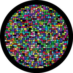 Rosco Mosaic Tile Breakup Color Glass Gobo