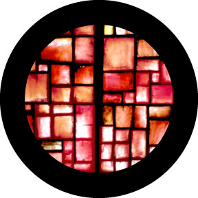 Rosco Red Square Color Glass Gobo