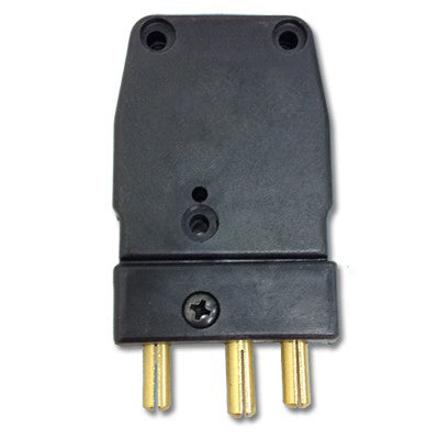Male 20 Amp Stage Pin with Ground