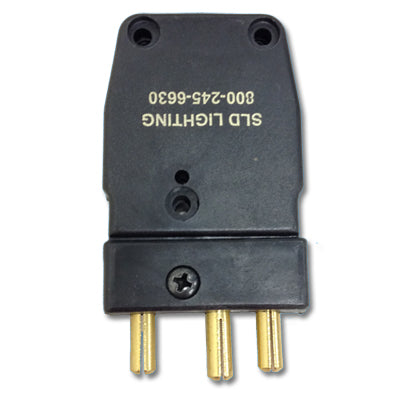 Male 100 Amp Stage Pin with Ground