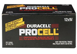 9v Batteries - 12 Pack Duracell Procell