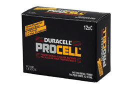 C Batteries - 12 Pack Duracell Procell