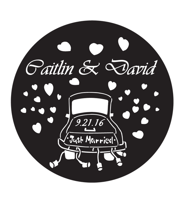 Rosco Vivadi Italic Custom Wedding Gobo
