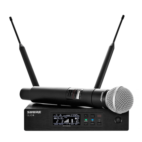 Shure Qlxd24 Sm58 Handheld Wireless Microphone System Ts