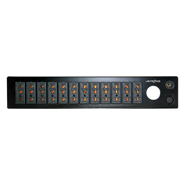Lightronics RE82LST Rack Mount Dimmer - Stagepin Outlet Panel