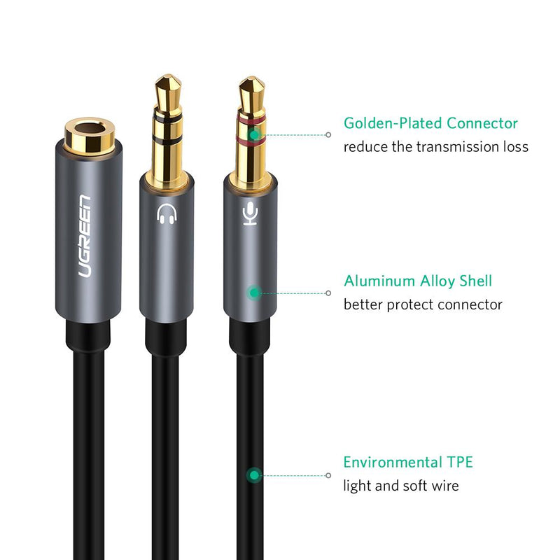 3.5mm Headphone Y Splitter Cable