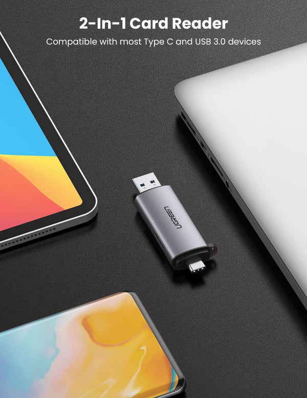2-in-1 USB C OTG Card Reader