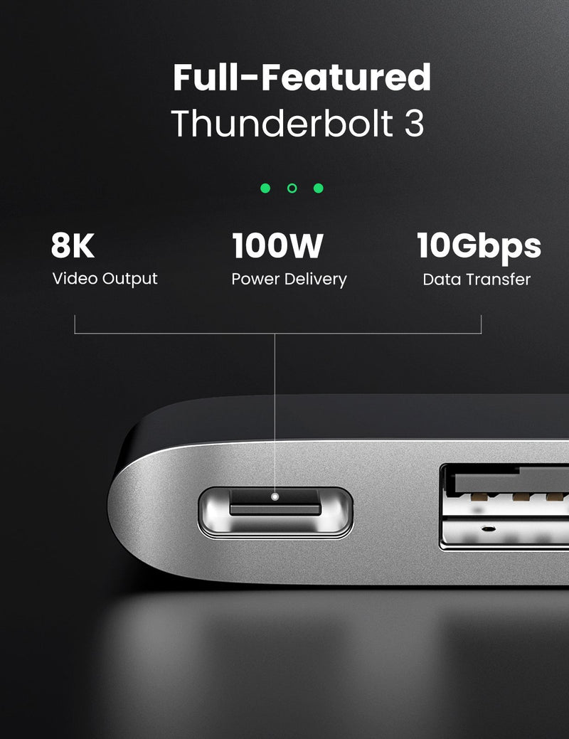 6-in-2 USB C Hub for MacBook Pro/Air