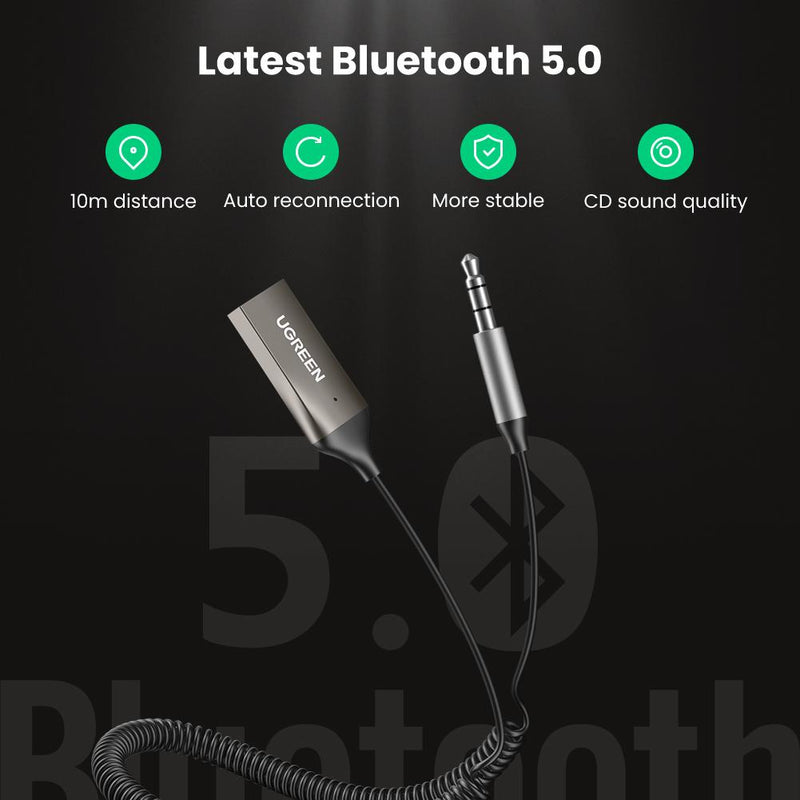 USB 2.0 to 3.5mm Bluetooth Adapter