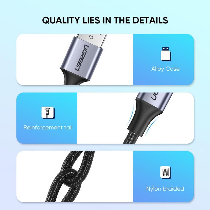 USB C to A Quick Charging Cable