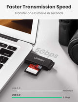 USB 3.0 Card Reader with SD/TF