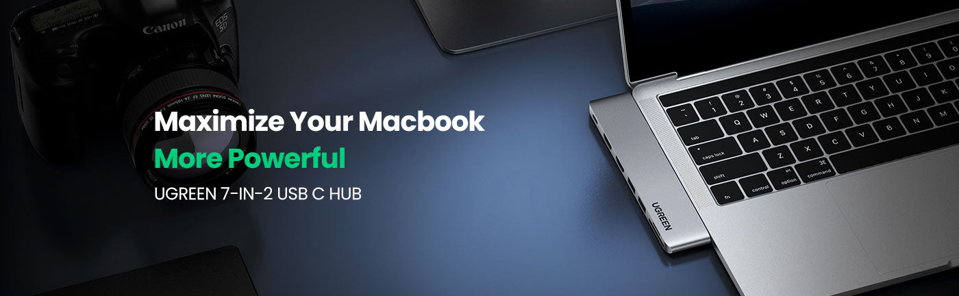 7-in-2 USB C Hub for Macbook Pro/ Air