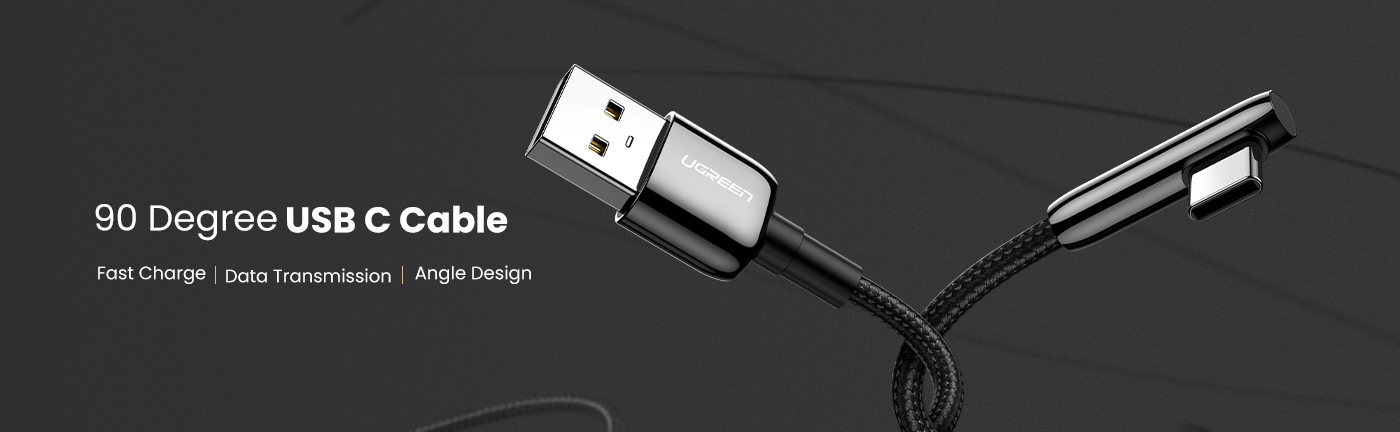 Right Angle USB C to A Cable