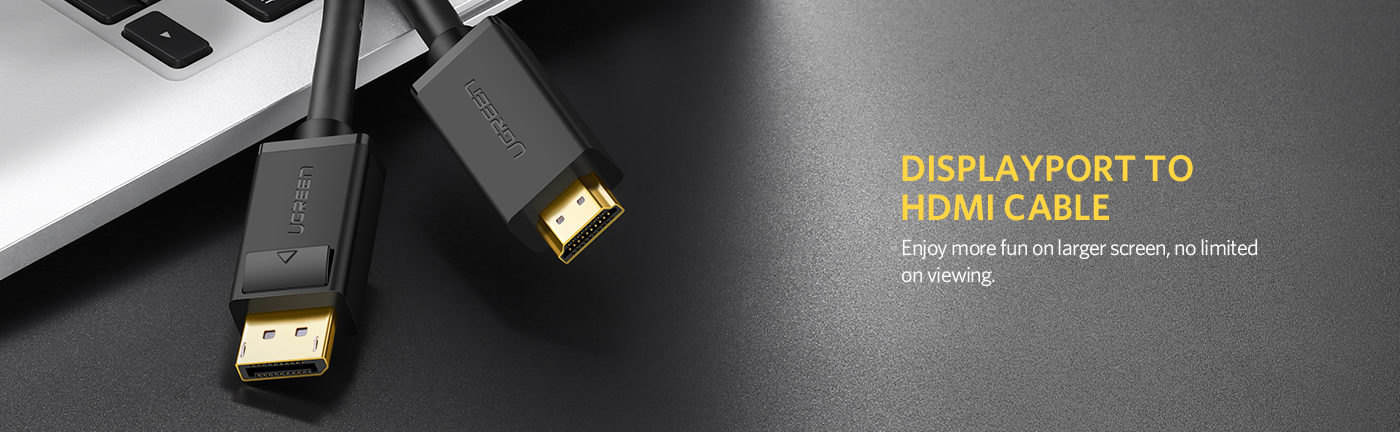 4K UHD DP to HDMI Cable