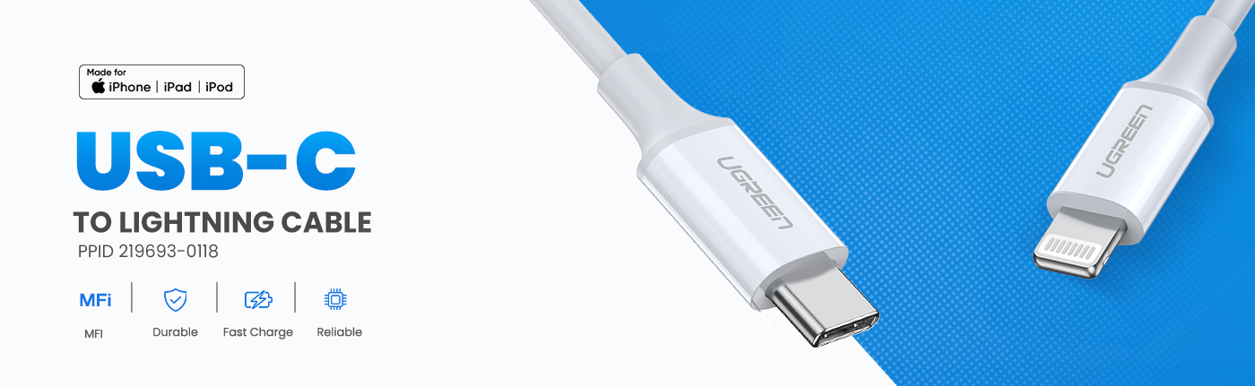 MFi USB-C to Lightning Charging Cable