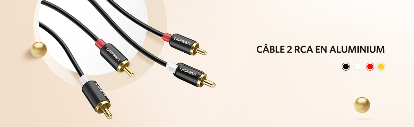 2RCA Stereo Audio Cable