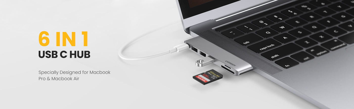 5-in-1 USB C Hub for MacBook Pro/Air