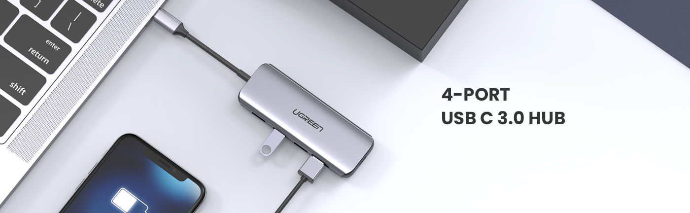 5-in-1 USB C Hub with 60W PD Charging
