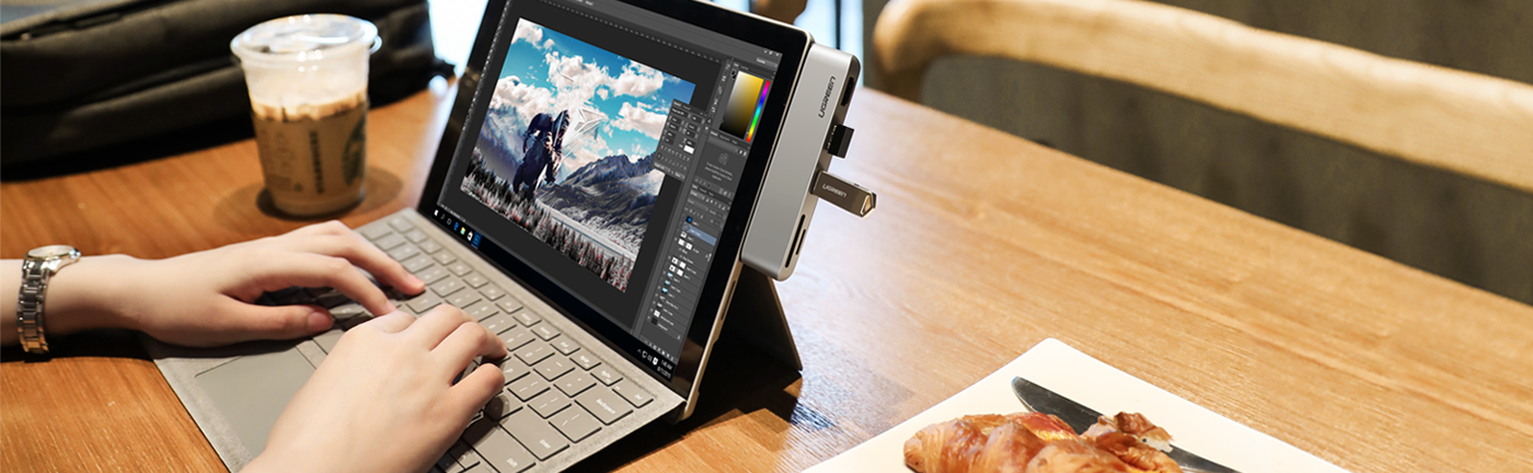 5-in-1 Hub for Surface Pro