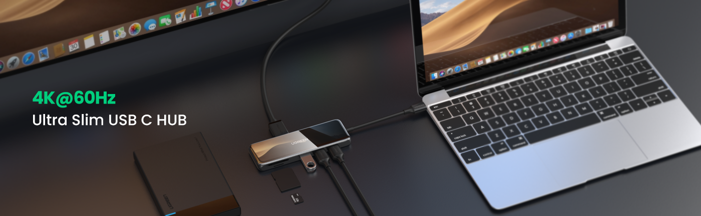 6-in-1 4K HDMI USB C Hub