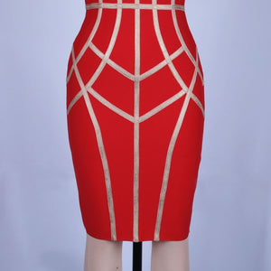 Strappy Sleeveless Striped Over Knee Bandage Dress PP19131 12 in wolddress