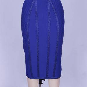 Halter Sleeveless Striped Over Knee Bandage Dress PP19217 9 in wolddress