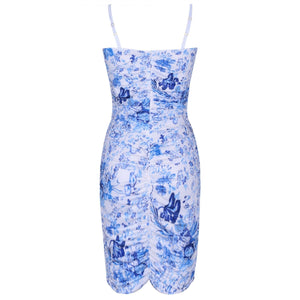 Strappy Sleeveless Floral Mini Bodycon Dress HI1069 5 in wolddress