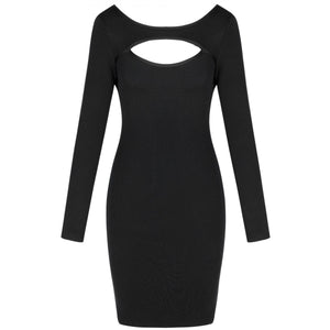Round Neck Long Sleeve Hollow Out Mini Bandage Dress PF19202 4 in wolddress