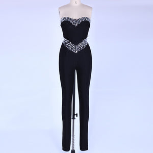 Strapless Sleeveless Rhinestone Bandage Jumpsuit SP067 5 in wolddress