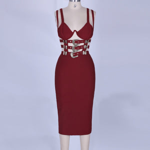 Strappy Sleeveless Metal Studded Mini Bandage Dress POHJ676 2 in wolddress
