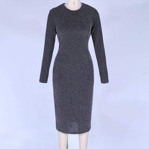 Round Neck Long Sleeve Mini Bodycon Dress LY007 4 in wolddress