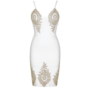 Strappy Sleeveless Embroidered Mini Bandage Dress PS19112 3 in wolddress