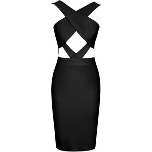 Halter Sleeveless Hollow Out Mini Bandage Dress PP19188 6 in wolddress