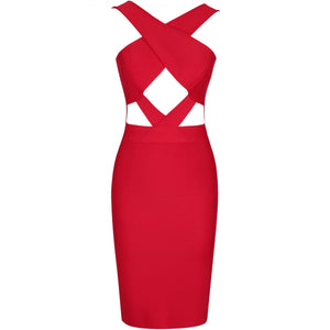 Halter Sleeveless Hollow Out Mini Bandage Dress PP19188 17 in wolddress