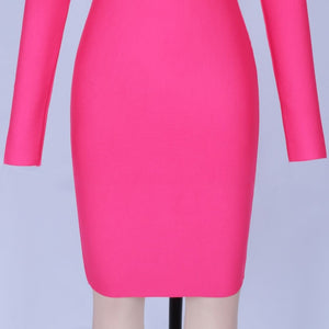 One Shoulder Long Sleeve Asymmetrical Mini Bandage Dress PP19214 7 in wolddress