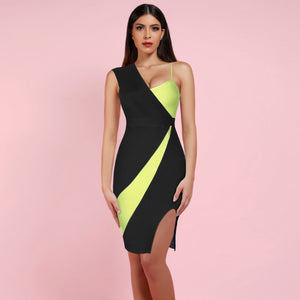 Strappy Sleeveless Slit Over Knee Bandage Dress HK19154 1 in wolddress