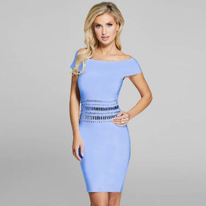 Off Shoulder Short Sleeve Sequined Mini Bandage Dress SW063 6 in wolddress