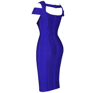 Round Neck Sleeveless Striped Mini Bandage Dress HG291 4 in wolddress