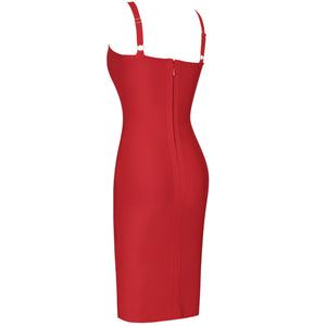 Sleeveless Cut Out Over Knee Bandage Dress PF19318