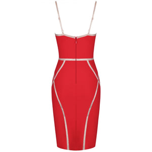Strappy Sleeveless Striped Over Knee Bandage Dress PP19131 9 in wolddress