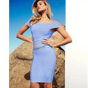 Off Shoulder Short Sleeve Sequined Mini Bandage Dress SW063 5 in wolddress