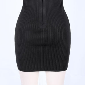 Strappy Sleeveless Metal Studded Mini Bandage Dress PP19121 10 in wolddress