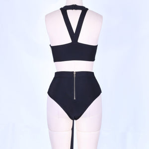 Halter Sleeveless High Waist Bandage Swimsuit BG002 4 in wolddress
