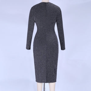 Round Neck Long Sleeve Mini Bodycon Dress LY007 6 in wolddress