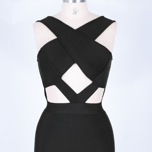 Halter Sleeveless Hollow Out Mini Bandage Dress PP19188 8 in wolddress