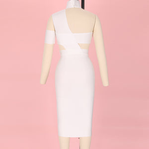 Halter Sleeveless Cut out Midi Bandage Dress SP015 25 in wolddress