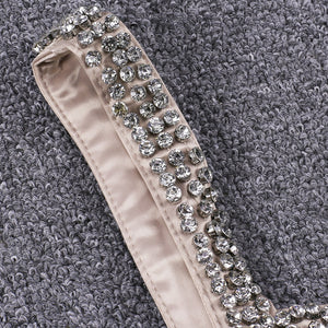 Strappy Sleeveless Rhinestone Mini Bodycon Dress YSP0003 9 in wolddress