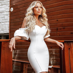 White Bandage Dress HB7268 1