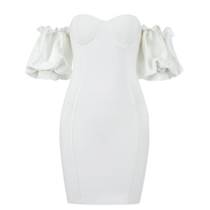 White Bandage Dress HB7268 2
